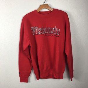 Jansport university of Wisconsin red crewneck